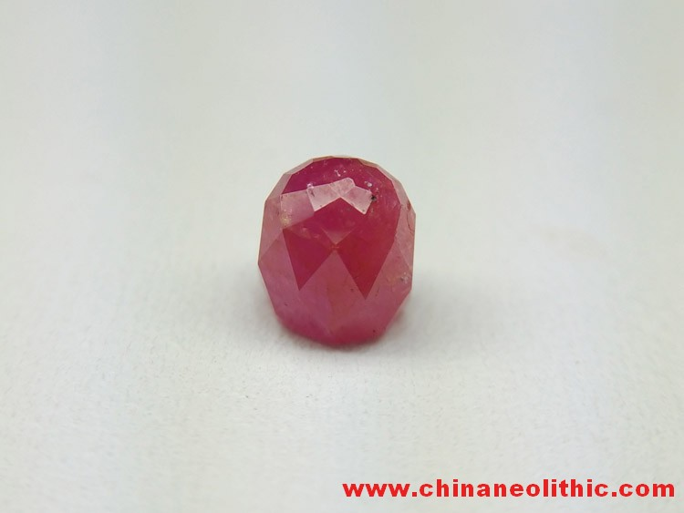Burma natural ruby ring section faceted bare stone Corundum - no color et al no burning without glue,Corundum