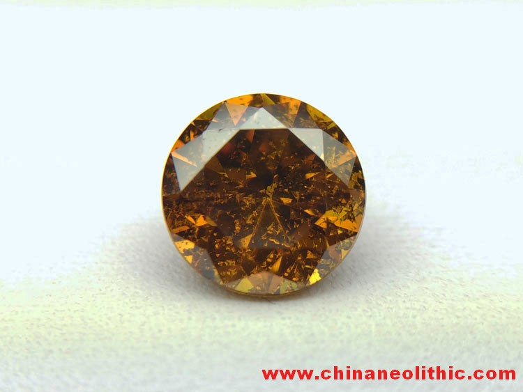 Red brown sphalerite round drill type ring gem faceted strong fire and strong refraction seven color,Sphalerite
