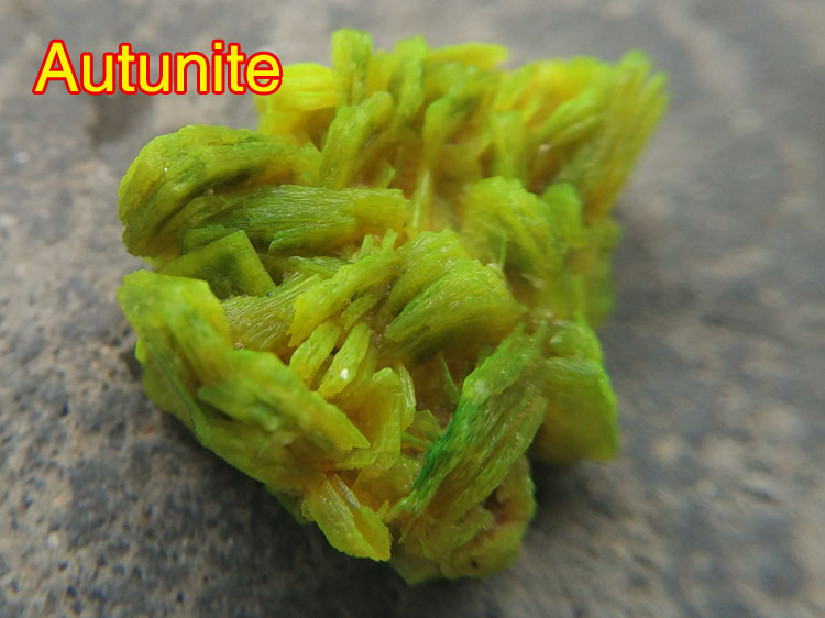 Autunite Made in Chinese Hunan,Autunite