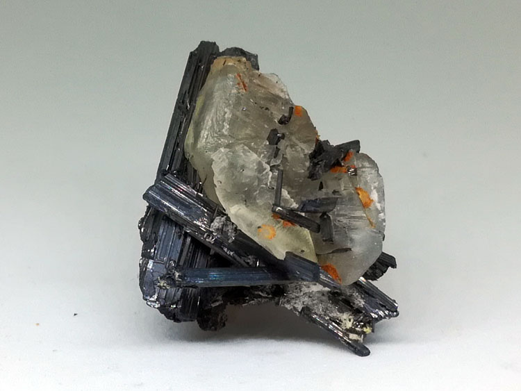 Stibnite and calcite mineral crystal specimens gem stone ore,stibnite,Calcite