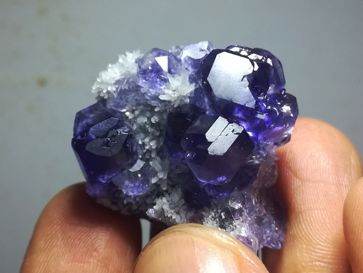 Purple blue fluorite brightness super mineral crystal gem stone ore samples,Fluorite,Quartz