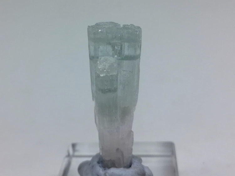 China new dual color aquamarine, Morgan stone, beryl gem stone ore mineral cluster crystal crystal s,Aquamarine