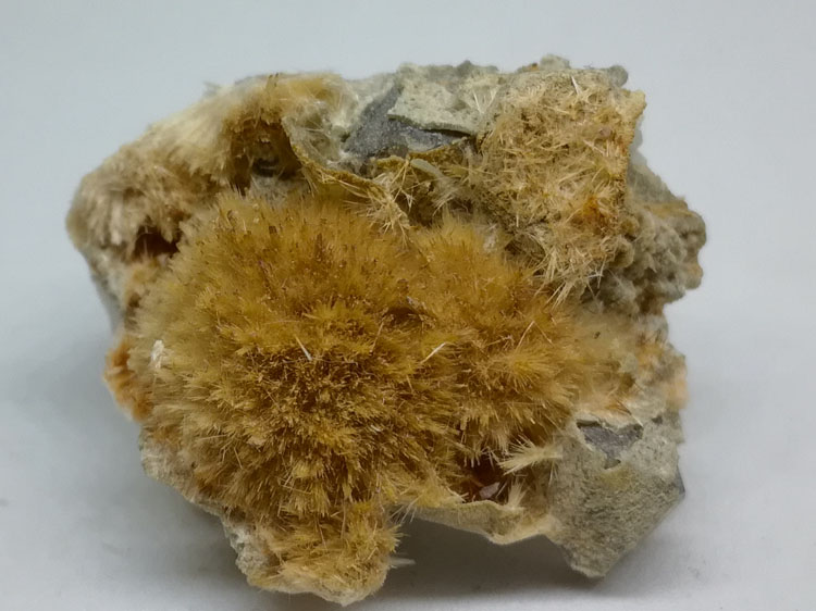 The new plush ball, unknown mineral, MIAROLITIC granitic pegmatite found only a few.,Stilbite
