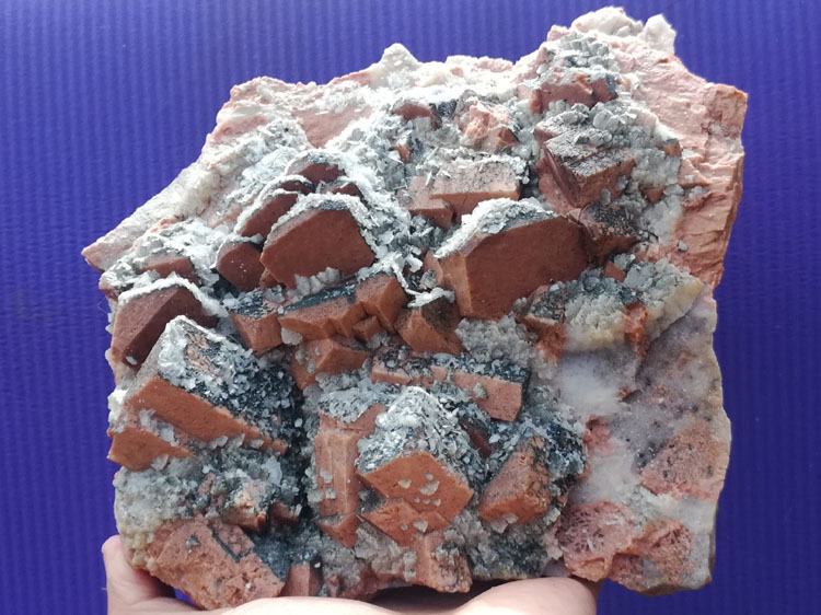 Pink feldspar and calcite mineral samples flake Crystal Gemstone stone ore pictographic stone stone,Feldspar,Calcite