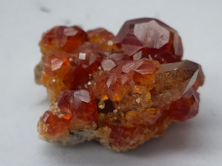 Large crystal Spessartite garnet, Fanta stone and crystal paragenetic mineral crystal specimen raw s,Garnet,Quartz