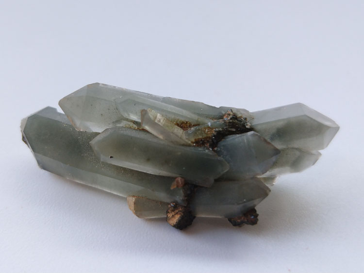 Green Quartz Crystal inclusions Epidote Mineral Specimens Mineral Crystals Gem Materials,Quartz,Epidote