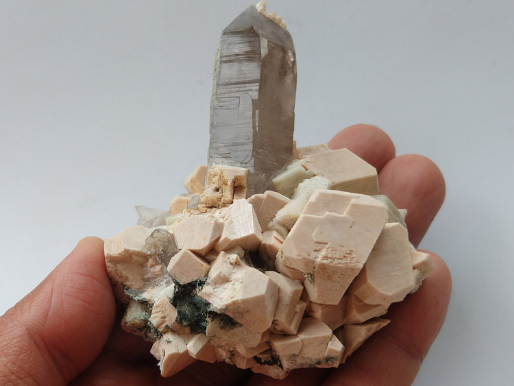 Microcline Feldspar albite and quartz symbiotic mineral specimens Crystal gemstone raw ore or,Feldspar,Quartz