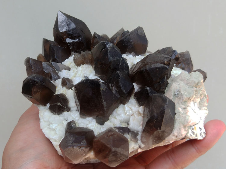 Smoky Quartz,Albite  Feldspar Mineral Specimens Mineral Crystals Gem Materials,Quartz,Feldspar